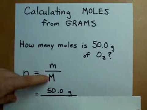Calculating Moles from Grams (Mass to Moles)