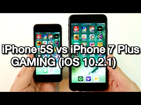 iPhone 5S vs iPhone 7 Plus iOS 10.2.1 Gaming!