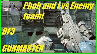 BF3 - Phobia and I vs Enemy team! | Found some Close Quarters DLC maps!  (GM)
