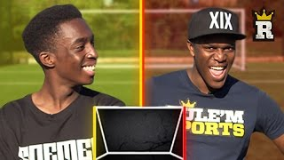 KSI ON THAT CROSSBAR TING - WOODWORK CHALLENGE vs FIFAManny | Rule'm Sports
