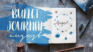 BULLET JOURNAL: Set Up August | How To | Universe Cover & Wasserfarben