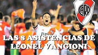 Las 8 asistencias de Leonel Vangioni en River Plate