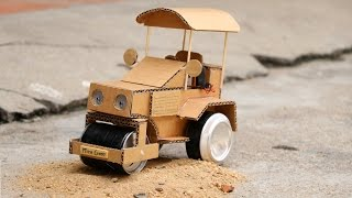 How to Make Powered Road Roller at Home for Kids