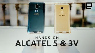Alcatel 5 and 3V Hands-On at MWC 2018