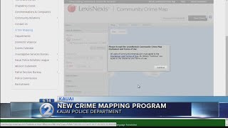 Kauai Police Department launches new online crime map
