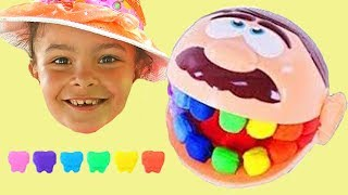 Play-doh Doctor Drill & Fill Has Rainbow Teeth,  Lear Colors with José play doh