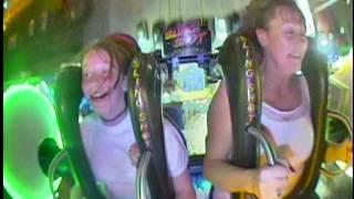Irish girls passes out on slingshot