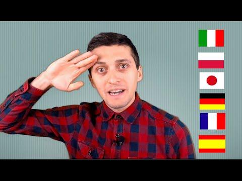 Speaking Italian German Japanese Polish Spanish English and French Language Challenge