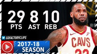 LeBron James Full Highlights vs Pacers (2017.12.08) - 29 Pts, 8 Ast, 10 Reb