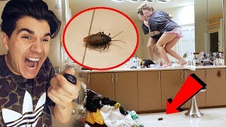 REMOTE CONTROL COCKROACH PRANK ON GIRLFRIEND! **PRANK WARS**