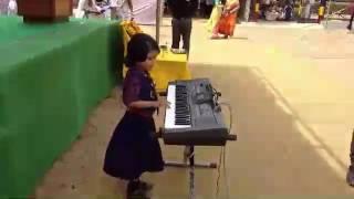 Jatiya sangeet present by 7year old a small gril. Ranjit paria. Com