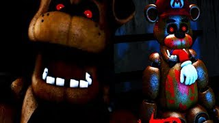 EATEN BY FREDDY AND STUFFED IN AN ANIMATRONIC | Mario in Animatronic Horror (Five Nights at Freddys)