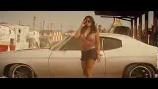 Natalie Martinez getting out of car in Death Race
