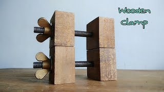 DIY Wooden Clamp Simple To Make || How To Make Clamp