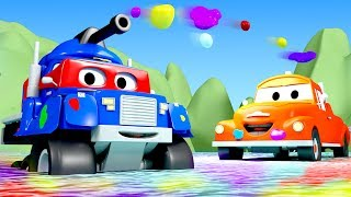 Carl the Super Truck is Carl The Tank  in Car City | Trucks Cartoon for kids