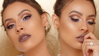 LILAC CUT CREASE WITH A POP OF COLOR | DESI PERKINS