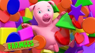 Shapes Song | Kindergarten Learning Videos For Toddlers | Collection Of Videos For Kids by Farmees