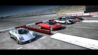 World's Greatest Drag Race! FASTEST Pagani's All in One Race | Forza Motosport 4