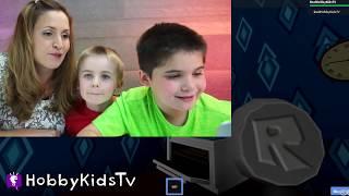 Hello Neighbor ROBLOX! Video Game Play + Creepy Real Life Neighbor Surprise HobbyKidsTV