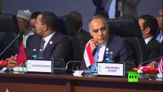 وزير الخارجية المصري سامح شكري يتجاهل أردوغان