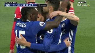 Eden Hazard gives Chelsea an early lead against Southampton