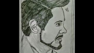 Simple Sketch 7 - speed drawing - Robert Downey Jr. - VKG