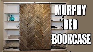 Murphy Bed DIY With Modern Farmhouse Style Barn Door