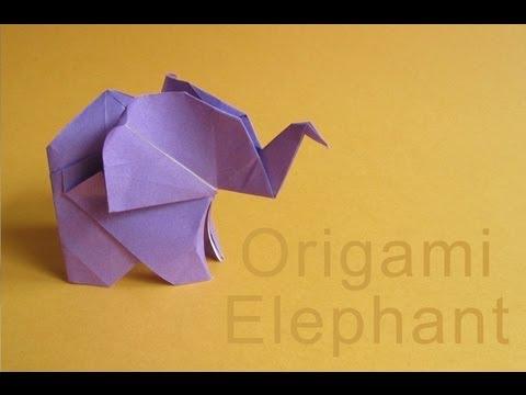 Origami Elephant :: Elefante de papel