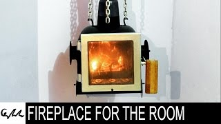 Extreme metal fireplace for the room