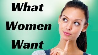 STUDY REVEALS:  What Do Beautiful Women Want?