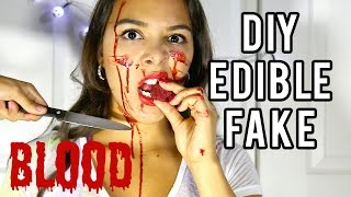 How to make Fake Blood for Halloween that is EDIBLE! NataliesOutlet