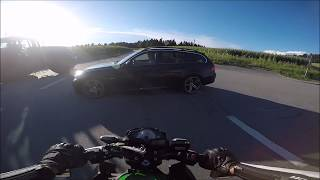 Motocycle Crash/Accident 2017 Kawasaki vs BMW German