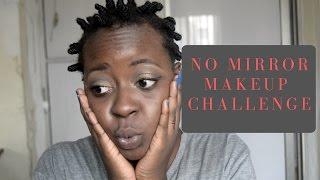 No Mirror Makeup Challenge | OmogeMuRa