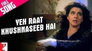 Yeh Raat Khushnaseeb Hai - Full Song | Aaina | Jackie Shroff | Juhi Chawla | Amrita Singh