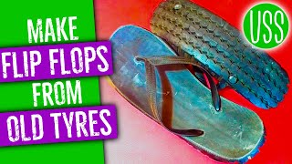 Making Flip Flops from Old Tyres
