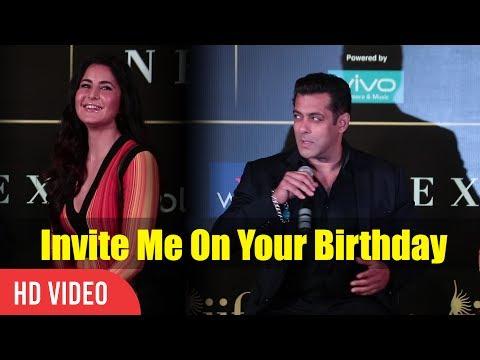 Invite Me On Your Birthday Katrina | Salman khan To Katrina Kaif | IIFA Awards 2017 Press Conference