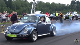 GRANDPA GOING CRAZY IN HIS VW BEETLE!