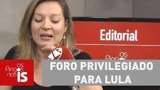 Joice: Câmara articula foro privilegiado para Lula