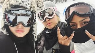 Kylie Jenner & Tyga Take Romantic Ski Vacation For New Year's
