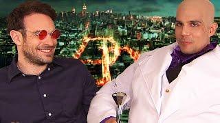 Funny Marvel DAREDEVIL Interview - Charlie Cox, Daniele Rizzo, Steven S. DeKnight
