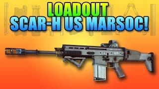 BF4 Loadout SCAR-H US MARSOC - Oorah! | Battlefield 4 Assault Rifle Gameplay