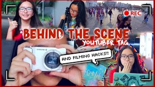 Behind The Scene Youtuber Tag + Filming Hacks ♡    With A Twist!
