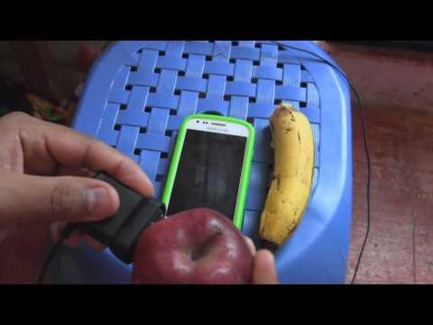 Como Cargar tu Celular con frutas manzana y platano