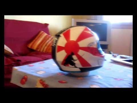 Aerografía Casco Japón Samurai