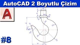 AutoCAD 2 boyutlu çizim örnekleri #8 (Sesli)