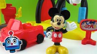 Mickey Mouse Túnel de lavado y Gasolinera Soap n Suds Car Wash - Juguetes de Mickey Mouse