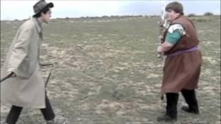Nerd Nails Fat Kid In Throat With Nunchucks