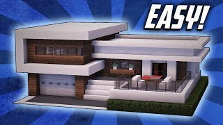 Minecraft: How To Build A Large Modern House Tutorial (#22)