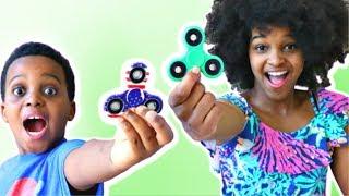 FIDGET SPINNER COMPILATION - Shiloh and Shasha - Onyx Kids!