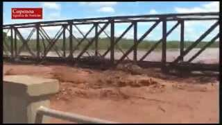 Salta: Imágenes del puente del Rio Colorado colapsado